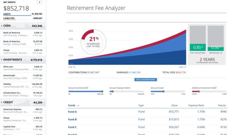 Personal Capital Retirement Fee Analyzer